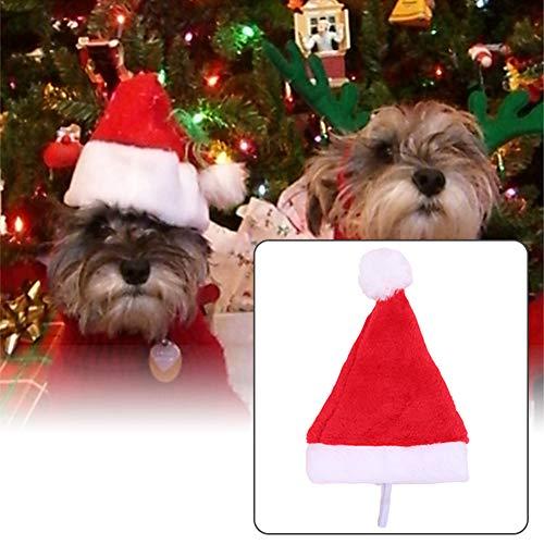YSoutstripdu Weihnachten Urlaub Kostüm Plüsch Pet Hund Santa Hat Party Supplies Decor Weihnachts Multi