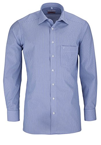 MARVELiS-Hemd SLIM/MODERN-FIT 7754-64-15 blau Streifen, Blau, Gr. 40 (Fit-blauer Streifen)