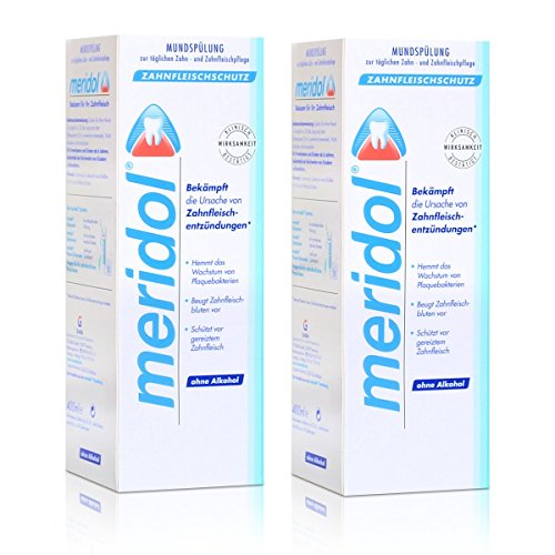 2x Meridol Mundspülung Zahnfleischschutz 400ml - ohne Alkohol