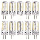 10er Set G4 LED 3 Watt Leuchtmittel Lampe Birne Stiftsockellampe Glühbirnen Kaltweiß, Ersatz für 30W Halogen-Lampe ,250Lumen, DC 12V kaltweiß