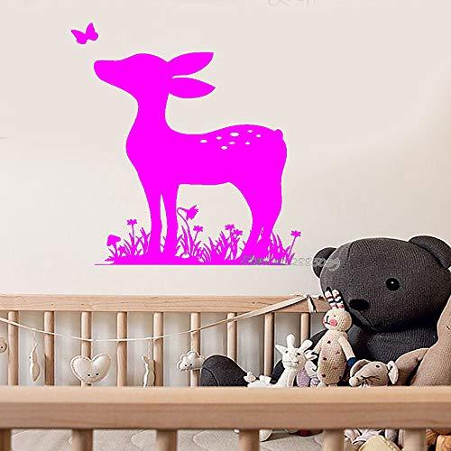 zqyjhkou Neueste Ankünfte Wandtattoo Ungiftig PVC Kitz Tier Baby Kinderzimmer Wandtattoos Nette Kinderzimmer Aufkleber Benutzerdefinierte Farbe Wand 6 56X72 cm