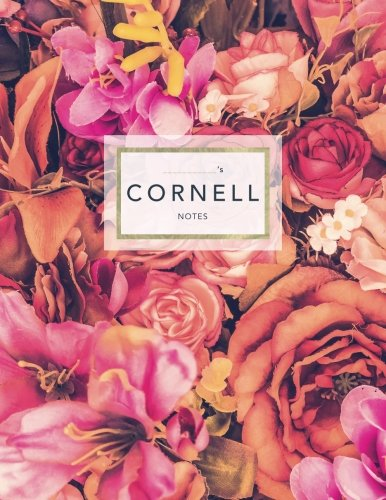 Cornell Notes: Floral Roses | 120 White Pages 8.5x11 | Note Taking System (College Notebooks) (White Collectibles Rose)