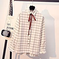 LGK&FA Blouse Blouse With A Bow Tie L White