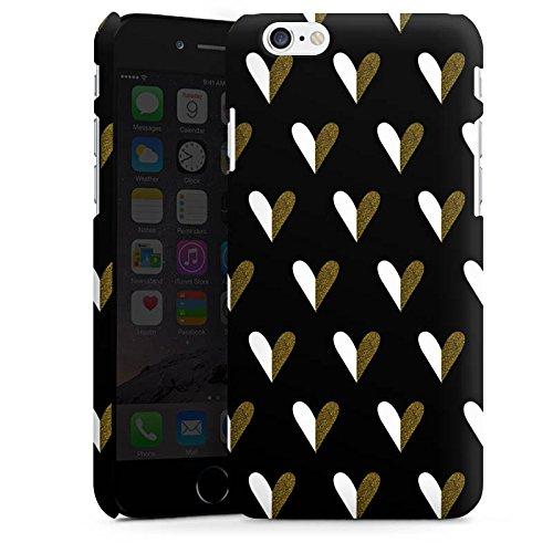 Apple iPhone X Silikon Hülle Case Schutzhülle Herzen Gold Muster Premium Case matt