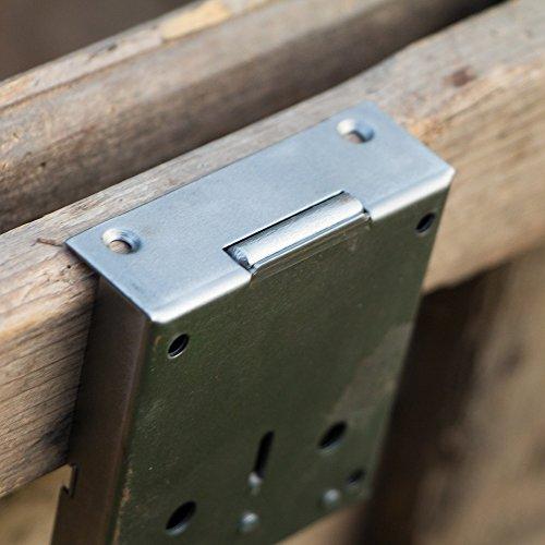 Kastenschloss a Eisen Dornmaß 45 mm mit Schlüssel links+rechts antik Retro Möbel