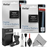 (2 Pack) Vivitar NB-11L / NB-11LH Battery and Charger Kit for CANON PowerShot SX410 IS, SX400 IS, ELPH 170 IS, 340 HS 320 HS 130HS 110 HS 1150 HS, A2300 IS A2400 IS A2500 A2600 A3400 IS A3500 ISA4000 - Includes: 2 Vivitar Ult