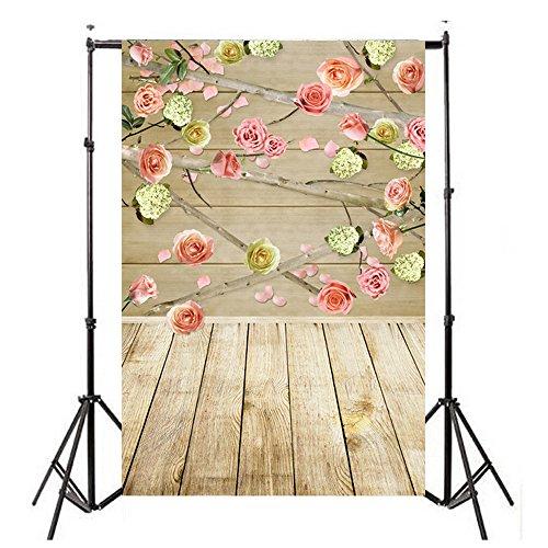 FORH Hintergrund Kulissen, Foto-Hintergrund, Vinylholz Wand Boden 3x5FT Laterne Hintergrund Fotografie Studio für Portrait, Produkt Fotografie und Videoaufnahme