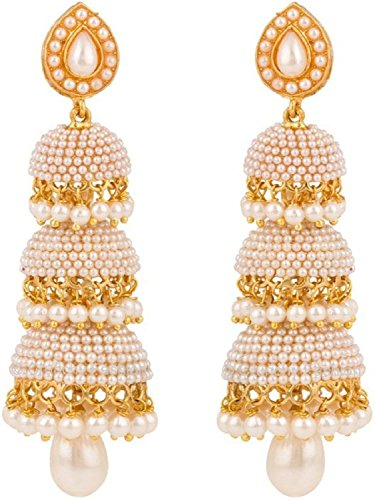 YouBella Jewellery Traditional Gold Plated Fancy Party Wear Jhumka / Jhumki Earrings for Girls and Women