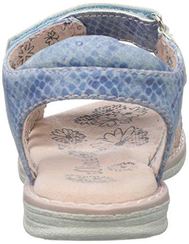 s.Oliver 38203, Sandales Bout Ouvert Fille Bleu (LT BLUE COMB 830)