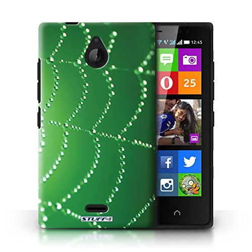 Kobalt® Imprimé Etui / Coque pour Nokia X2 Dual Sim / Turquoise conception / Série Toile d'araignée Perles Vert