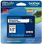 Brother Schriftband TZE231 12mm weiß/...