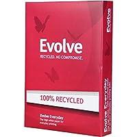 Doble una copia en papel Evolve, A4, reciclado, con fresado, Blanco, 5 piezas