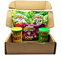 Warheads Sour Mix (2 x 28g Warhead Extreme Sour, 1 x 70g Warheads Chewy Cubes, 1 x 42g Yellow Toxic Waste Drum, 1 x 42g Green Toxic Waste Drum)