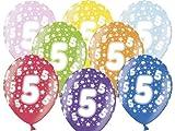 12 Luftballons 30 cm zum 5. Geburtstag - Kindergeburtstag Ballon - Kleenes Traumhandel®
