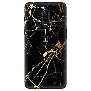 Inkhop Printed Back Cover for OnePlus 6T (Black Gold)