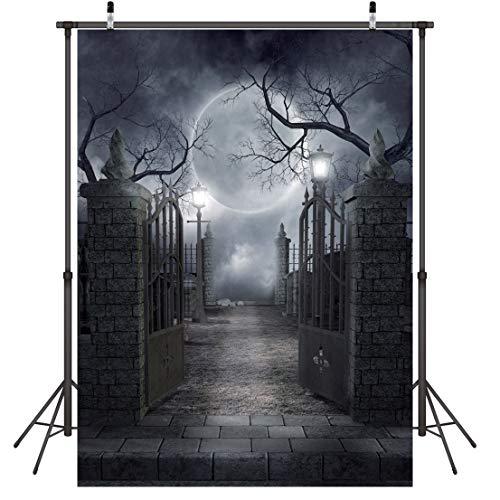 LYWYGG 5x7FT Halloween Mond Nacht Halloween Dekoration Halloween Backdrops Vinyl Foto Hintergrund Fotografie Hintergrund Studio Prop CP-52