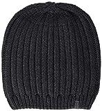 ESPRIT Accessoires Herren Strickmütze 108EA2P001, Grau (Anthracite 010), One Size (Herstellergröße: 1SIZE)