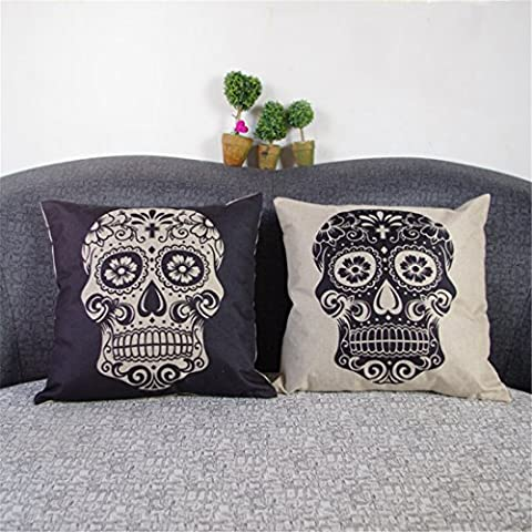 Luxbon Set of 2 Pcs Day of the Dead Mexico