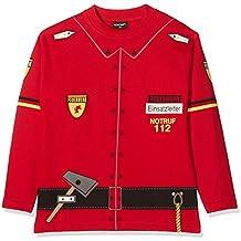 COP Jersey sudadera-camiseta de bomberos para niños, todo el año, infantil, color Rojo - rojo, tamaño 8 años (128 cm)
