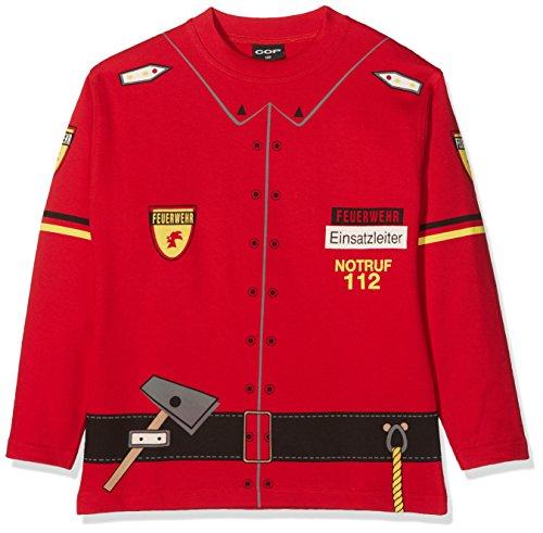 COP Kinder Pullover Sweat Shirt FEUERWEHR, Rot, 128, (Kostüme Tshirt Cop)