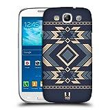 Head Case Designs Stahlblau Neo Navajo Snap-on Schutzhülle Back Case für Samsung Galaxy S3 III I9300