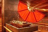 Saunagut® Aufgussfächer Esche Standard, Farbe:orange+rot