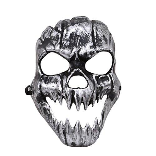 ustume Holloween Party Maske Gothic Scary Totenkopf mit gekreuzter Knochen Maske,Wie Das Bild,24*19cm (Holloween Masken)