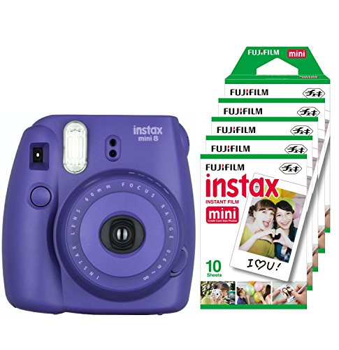 fujifilm-instax-mini-8-camara-instantanea-flash-1-60-sec-color-violeta-5-paquetes-de-peliculas-fotog