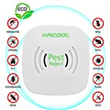 KACOOL Ultrasonic Pest Repeller Repellent, Home Pest Control Reject Device Non-Toxic Spider Lizard