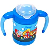Kidzvilla Baby Cute Stylish Bpa Free Unbreakable Sippy Cup (Sipper Kids Mug) Hard Spout Infant PP Water/Juice Training Gravity Sipper Cup With Handles & Dust Free With Handel