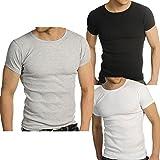 Raiken Ribbed Crew Neck ( Pack of 3 ) T-Shirts-M