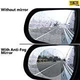 #4: Taslar Waterproof Film Rear View Mirror Side View Glass Anti-Fog Anti-Glare Rainproof Film for Universal Car Bus - Pack of 2