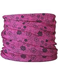 Multifunctional Headwear Flowers on Cerise Pink Background