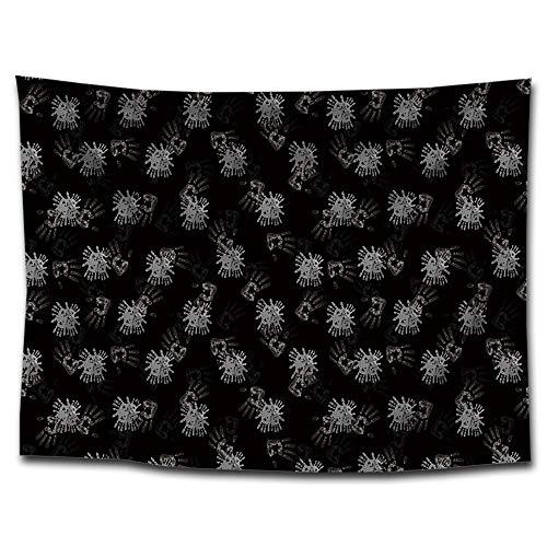 Mkulxina Arazzo in Poliestere Stampa palmare Tessuto da Appendere a Parete Interno Bandiera da Parete Stuoia da Spiaggia Tavolo Croce Poster in Tessuto Camera per Bambini Baby Room Camera dei Bambini
