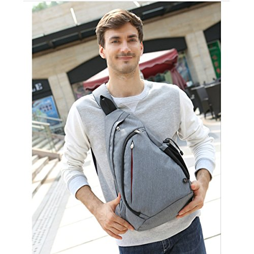Klassische Hochwertige Messenger Bag Outdoor Sport Daypack Gray