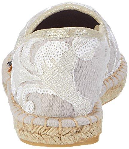 Fritzi aus Preussen Fashion Espadrilles 01, Espadrilles femme Weiß (White)