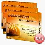 3x Beta Karotone Sun Forte | 90 Tabletten Vegan | Beta-Carotin für schöne Bräune | Anti-Aging der Haut | Apotheken-Ware - Pharma Qualität nach GMP & HACCP