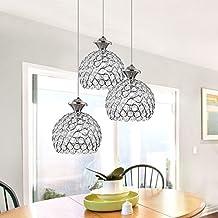 Lustre en Cristal Design élégant Hauteur Lustre Plafonnier en Cristal Lustres Salon Ceiling Light(Sans Lumière Ampoule)
