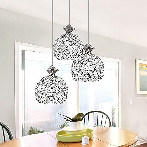 Lustre en Cristal Design élégant Hauteur Lustre Plafonnier en Cristal Lustres Salon Ceiling Light(Sans Lumière