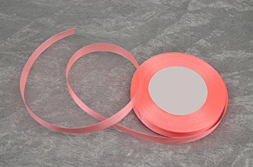 32m Satinband 12mm ( 0,06€ / m ) / Deko Band Schleifenband Dekoband Geschenkband Hochzeit Komunion (036 - koralle) (036 Schleife)