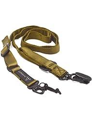 BEETEST Multi-uso táctico cordón hombro Sling ajustable correa de la correa de las correas para deportes al aire libre caza juegos de CS Caqui