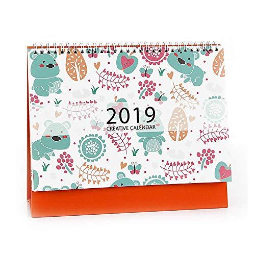 Tamumu 2018-2019 Kleiner Tischkalender Tischkalender Stehkalender mit Staffelei Style D bunt - Desktop-kalender-easel