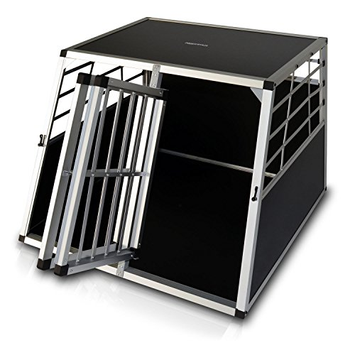 Hunde-Transportbox 04 Aluminium-Autobox Hundebox mit zwei Türen (XL)
