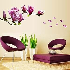 "Wall Sticker, DDLBiz® Adesivi Murales, Carta da Pareti ""fiore di magnolia"" Decorazione Murali da Parete"