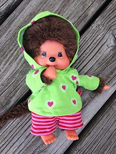 Puppenkleidung handmade für MONCHICHI Gr.20 MONCHHICHI Bekleidung Kapuzenshirt Hoodie + Hose Kleidung (Monchichi Kleidung)