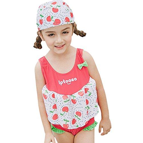 Mädchen Einteiler Bademode Bojen-Badeanzug - Badebekleidung für Kinder mit Schwimmbojen Ärmellos Float Suit Badeanzug mit Schwimmhilfe (Mädchen Badeanzug Einteiler Kleinkind)