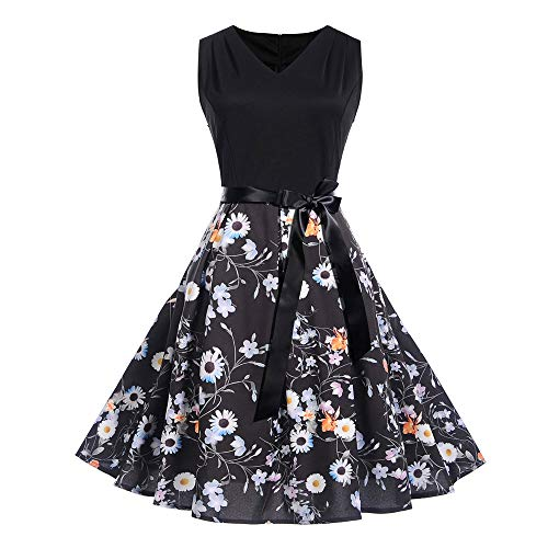 MRULIC Prinzessin Abendkleid Vintage Kleid Cocktailkleider (EU-38-40/CN-L, S-Mehrfarbig)