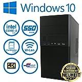Master-PC INTEL CORE i3-7100 (Dual-Core) 2 x 3,90 GHz Kaby Lake, ASUS Mainboard, 8 GB DDR4 RAM, 128 GB SSD + 1000 GB HDD (SATA3/SATA-600), Intel HD 630 Grafik 4K, USB 3.1 Gen1, HDMI 4K, DVI, VGA, DVD-Brenner, Sound, Gigabit-Lan + WLan, CARD-READER, Windows 10 PRO 64bit o.DT.