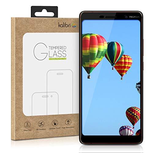 kalibri Nokia 7 Plus Folie - 3D Glas Handy Schutzfolie für Nokia 7 Plus - Auch für gewölbtes Bildschirm
