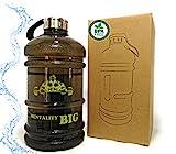 Borraccia Palestra 2 Litri. Bottiglia per Acqua in Plastica BPA Free, Resistente, Tappo Antigoccia, Ideale per lo Sport: Palestra, Crossfit, Bodybuilding.